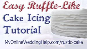 Easy Ruffle Like Wedding Cake Icing Tutorial