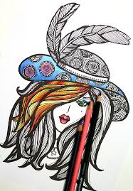 You Will Love Coloring This Lady In Hat Free Printable Page For Adults
