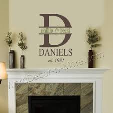 Wall Art Designs Personalized Couple Monogram Date Established Family