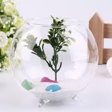 mode trépied soutien forme ronde verre fish tank aquarium plante