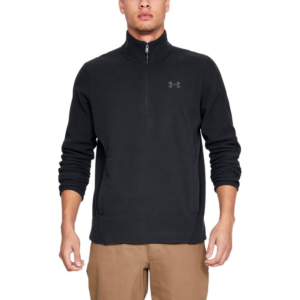 Under Armour Men's OffGrid Fleece Solid 1/4 Zip Black XXL