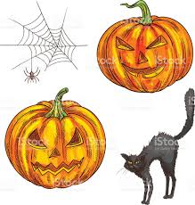 Scary Pumpkin Printable by Halloween Scary Pumpkin Lantern Sketch Icons Stock Vector Art