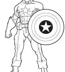 Captain America Coloring Sheets Download Pages Shield Printable