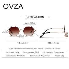 großhandel sonnenbrille weibliche augendesignerkatze fro brille womens ovza marke openwork retro metallrahmen sonnenbrillen s6092 cxncr
