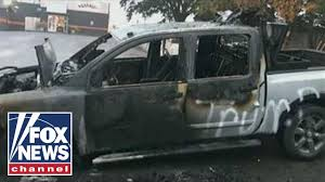 Man Says His Truck Was Set Ablaze Over Pro-Trump Stickers - YouTube Truck Decal Vector Graphic Abstract Racing Stock Royalty Badge Of Truck Kamaz And Sticker Orangeblue Stripes Emercom Product 2 Hemi 57 Liter Ram Stripe Dodge Vinyl This Hot On My Funny Warning Sticker Fart True Women Use 3 Pedals Woman Driver Etsy 2019 White 4x4 Mountain Car For Jeep Pickup D Yin Yang Vinyl Decal Chinese Symbol Ying Taijitu Vintage Car Motor Vehicle Free Commercial Clipart Boston Celtics Decal Window Sticker Nba New Work Album Imgur Carson Mchone Delivery Free Image