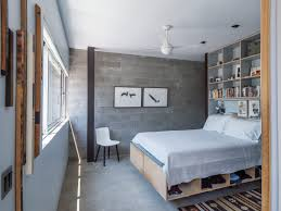 Pallet Bed Frame by Bedroom Diy Pallet Bed Frame With Storage Large Concrete Wall