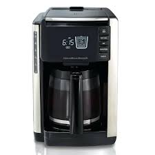 Hamilton Beach 12 Cup Percolator Digital Coffeemaker Built In Scale Measures Stainless
