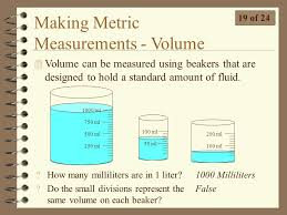 100 milliliters to liters technical science scientific tools and methods ppt