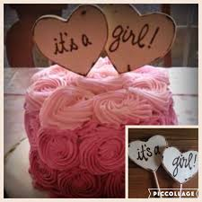 Baby Shower Cake Toppers Its A Girl Boy Wood