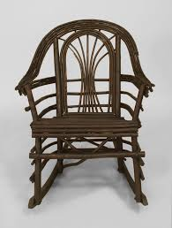 American Adirondack Style Willow Twig Rocking Chair In Good Condition For Sale