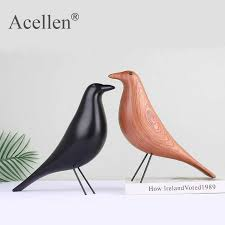nordic haus vogel figurine holz frieden pigeon skulpturen wohnkultur moderne holz handwerk wohnzimmer dekoration zubehör