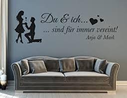 tjapalo s pkm311 wandtattoo wohnzimmer modern wandtattoo schlafzimmer spruch du und ich für paare mit namen b100 x h31 cm