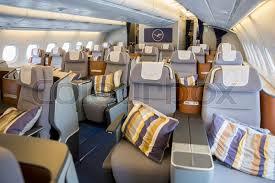 Sofia Bulgaria October 16 2016 The inside of Lufthansa Airbus