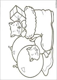 Christmas Kitty Coloring Pages Free Library Hello Page Print