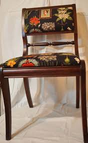 Black Floral Chair Set
