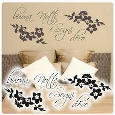 buona notte gute nacht wandtattoo wandaufkleber schlafzimmer
