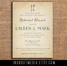 Rustic Rehearsal Dinner Invite Invitation