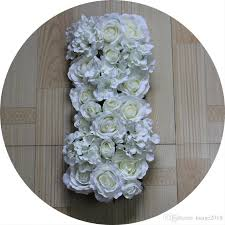 Cheap Wedding Decorations Online by 2017 White Roses And Chrysanthemum Artificial Wedding Silk Rose