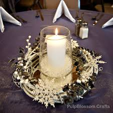 10 Winter Wedding Centerpieces Snowflake Theme 7000 Via Etsy
