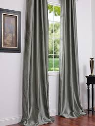 Faux Silk Eyelet Curtains by Solid Faux Silk Taffeta Platinum 96 Inch Curtain Panel Overstock