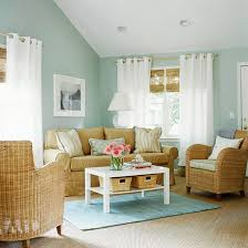 light blue room with several small windows that let the