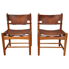 W H Gunlocke Chair Value by Pair Of Børge Mogensen Leather Hunting Chairs Model 3237 At 1stdibs