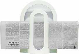 zeitschriftenhalter bzw zeitungshalter in weiß aus kunststoff ohne bohren für wc bad schlafzimmer etc