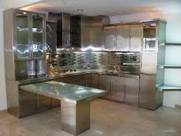 the futuristic inspiration of metal kitchen cabinets intended for