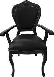casa padrino barock luxus echtleder esszimmer stuhl schwarz schwarz mit armlehnen handgefertigte möbel mit echtem leder