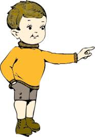 Boy Pointing Finger Clipart 15