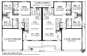 Images Duplex Housing Plans by Traditional Ranch Duplex Home Plan 89293ah Architectural