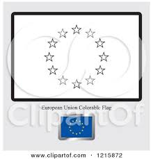 Coloring Page And Sample For A Europe Flag