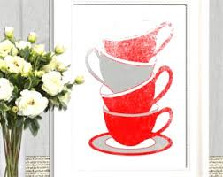 Red Kitchen Decor Etsy Adorable