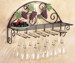 Buy French Tuscan Grape Vineyard Wall Hanging Wine Champagne Glass Flute Holder Storage Shelf Rack Bar Cellar Kitchen Metal Decor In Cheap Price On Alibaba