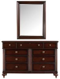 Stanley The Classic Portfolio British Colonial Dark Shell Dresser And Landscape Mirror
