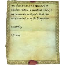 Letter from a Friend Skyrim Wiki