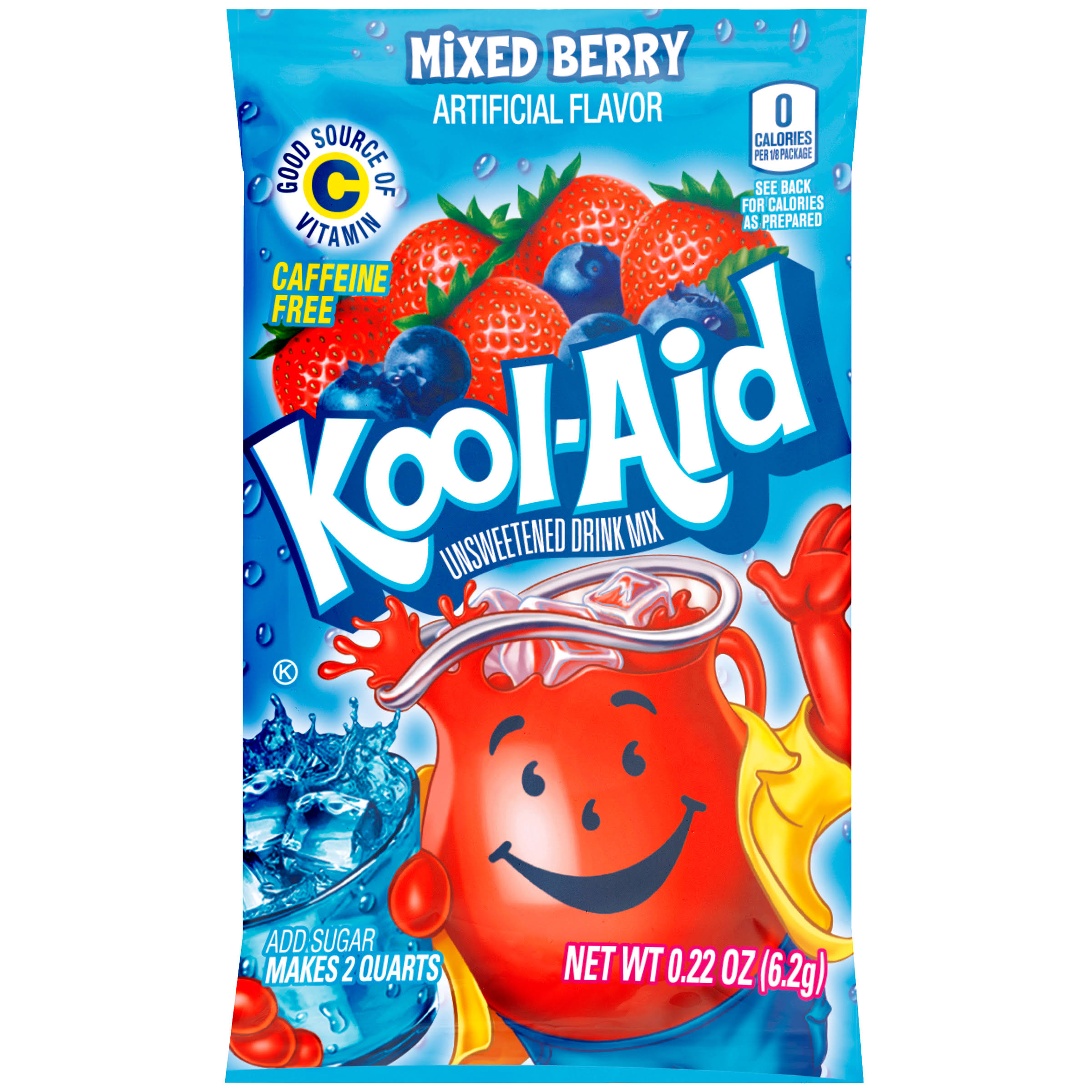 Kool-Aid Unsweetened Drink Mix - 4.8mg, Mixed Berry
