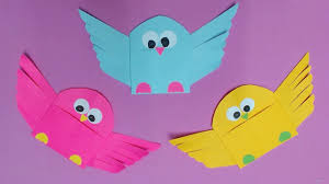 How To Make Bird With Color Paper