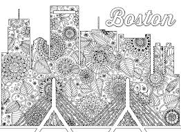 Click Here To Download A Full Size Version Of This Boston Themed Coloring Sheet