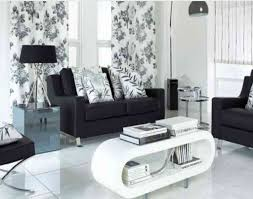 Black Leather Sofa Decorating Ideas by Incredible Decoration Black And White Living Room Set Skillful