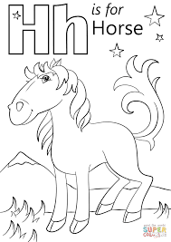 Click The Letter H Is For Horse Coloring Pages To View Printable
