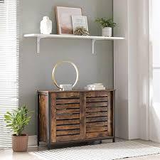 vasagle sideboard kommode schrank küchenschrank mit schiebetüren wohnzimmer flur küche homeoffice stahlgestell industriestil