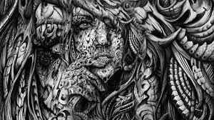 Abstract Art Black White Kemecer