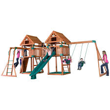 Backyard Discovery Parkway All Cedar Playset The Home Depot Image ... Shop Backyard Discovery Prestige Residential Wood Playset With Tanglewood Wooden Swing Set Playsets Cedar View Home Decoration Outdoor All Ebay Sets Triumph Play Bailey With Tire Somerset Amazoncom Mount 3d Promo Youtube Shenandoah