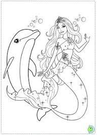 Barbie Mermaid Coloring Pages Printable