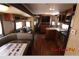 Forest River Salem Bunkhouse Travel Trailer Living Area