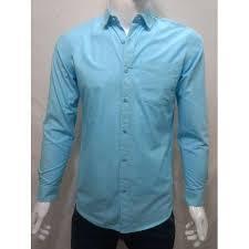Medium XL Plain Men Light Blue Shirt Rs 400 piece Parekh