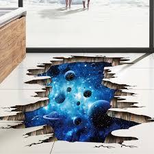 3d galaxie planet raum wandaufkleber für kinder jungen schlafzimmer kunst vinyl wandtattoo boden aufkleber baby schlafzimmer dekoration