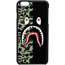 Amazon Bape shark colorfull 3 Case For iPhone 7 Home & Kitchen