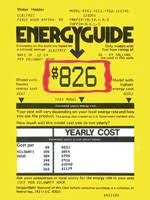 The Yellow Label Shows Estimated Yearly Cost For Average Family Of Estimates Can Help When Comparing Water Heaters But Actual Varies With
